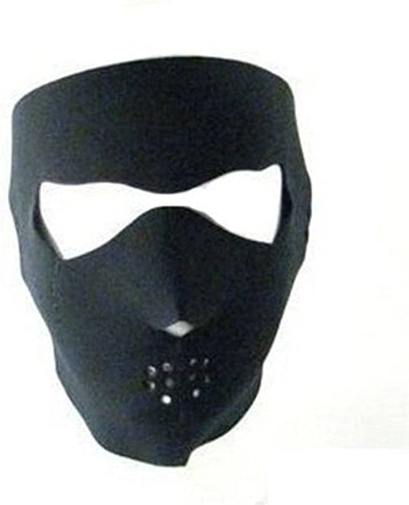 Black Neoprene Winter Full Face Mask W Nose Mouth Ear Vents - Ninja Mask