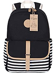 Ulgoo School Backpacks Travel Canvas Backpacks for Girls School Bookbags for Teen