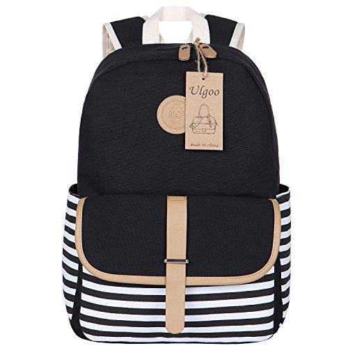 Ulgoo School Backpacks Travel Canvas Backpacks for Girls School Bookbags for Teen