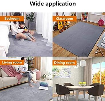 Fluffy Soft Anti-Slip Shaggy Rug Dining Room Bedroom Carpet Floor Mat More Size