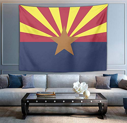 NiYoung Bohemian Wall Hanging Hippie Hippy Tapestry, Arizona State Flag 3D Print Indian Multi-Purpose Decorative Wall Tapestry, Abstract Tapestry, Bedspread Picnic -