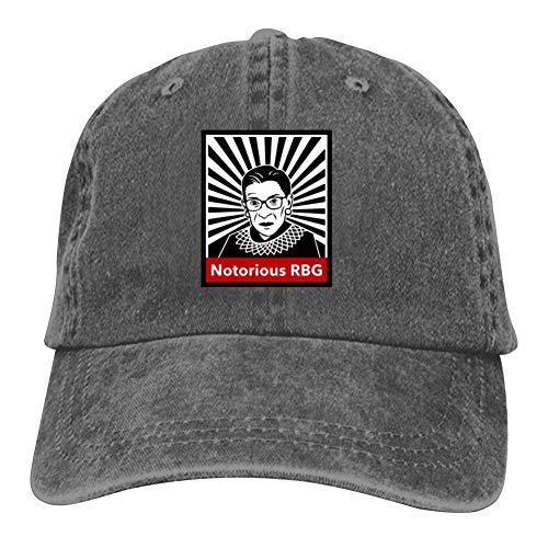 Price comparison product image Pdgpadi Adult Cowboy Hat, Hipster N-Notorious R-B-G Hipster Printed Adjustable Baseball Snapback Cap Charcoal