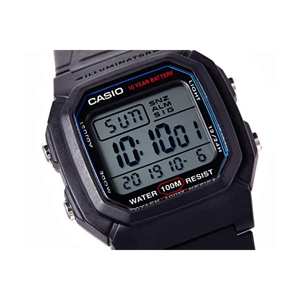 Casio Collection W-800H-1AVES, Reloj Digital Unisex, Negro 6