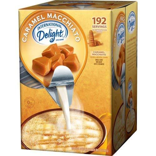 International Delight Non-Dairy Coffee Creamer Caramel Macchiato, 192 count (2 Pack)