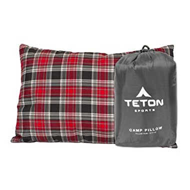 TETON Sports Camp Pillow Perfect for Camping and Travel; Ultralight Pillow; Grey