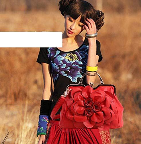 main bandoulière pour Sac OHmais à femme Sac en fille porté Rouge Cuir Sac épaule PU xfEwHYwq