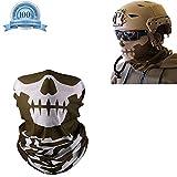 Skull Mask Skull Facemask Skull Face Balaclava Skull Mask Motorcycle Skull Face Tube Masks for Winter Skull Face Shield Bandana Seamless Windproof Breathable Dust-Proof (Brown) Hmjunboys