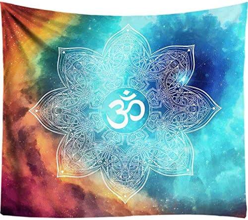 WandtapijtGroene Galaxy Esthetische Indiase Mandala Zen Tapijt Rechthoek Indiase Symbool Kunst Tapijt Gooien Sprei Voor Tiener Slaapkamer Woonkamer Decor 75X90Cm 295X355In