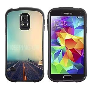 Pulsar iFace Series Tpu silicona Carcasa Funda Case para Samsung Galaxy S5 , Infinità Strada Natura Nebbia Foresta Viaggi Auto