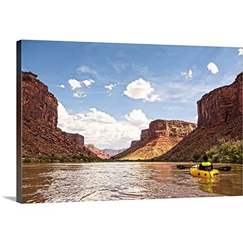 (Red Rocks Cliffs Along The Colorado River, Canyonlands National Park, Utah Canvas Wall Art)