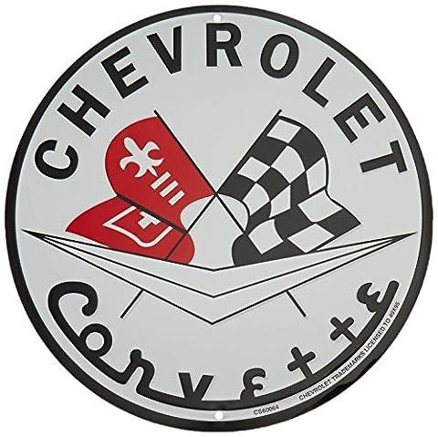 Chevrolet Corvette Metal Sign (Corvette Logo Sign)