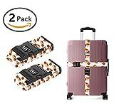 JACINTAN Design Luggage Strap Adjustable Lock Spaghetti Dinner I Love