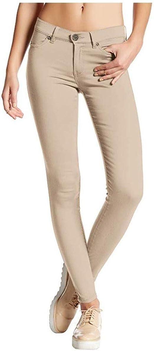 Tootess 女性パッチボディコンファッションポケットストレッチソリッドストレートレッグジーンズ