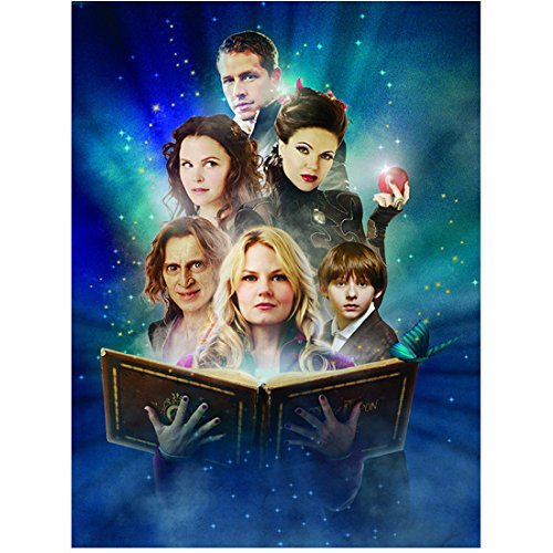 Once Upon a Time Jennifer Morrison as Emma Swan The Savior Opening Book with Cast 8 x 10 Photo from Once Upon a Time
