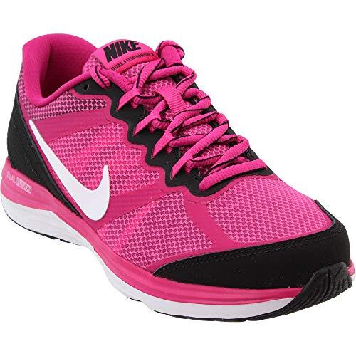 Fusion Kids Nike - Nike Girl's Dual Fusion Run 3 (GS) Running Shoe Hot Pink/Black/Fireberry/White Size 7 M US