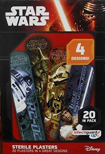 Higiene Dental y Tiritas 64135 - Tiritas en caja de cartón, diseño Star Wars Grosvenor