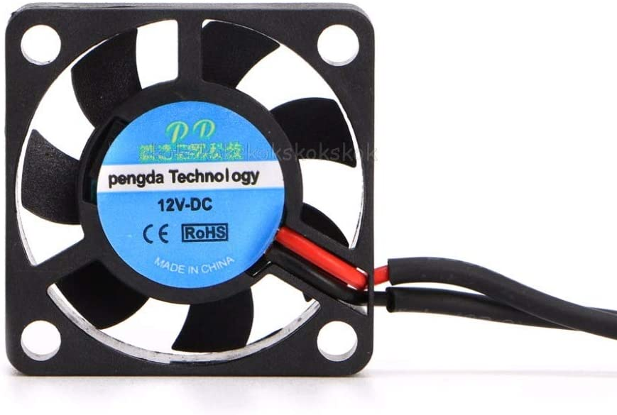 Rarido DC 5V//12V 30307mm Small 2Pin Brushless 2-Wire 3007S Axial Cooler Cooling Fan #H029# Blade Color: 12V