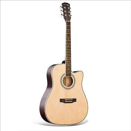 Aigliady Guitarra acústica de 41 pulgadas Principiante para hombres y mujeres Adultos Autoestudio Guitarra acústica Sencillo bicolor con estuche Modulador Modulador Afinador: Amazon.es: Instrumentos musicales