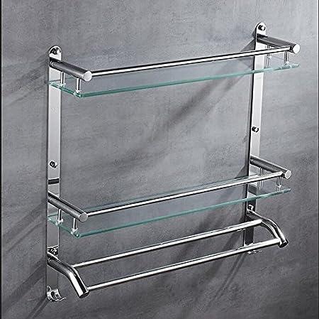 LJMM Bathroom glass shelf,304 stainless steel towel rack,shelf ...