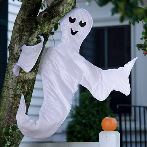 Outdoor Halloween Decorations - Peek a Boo Ghost Halloween Tree Wrap Decoration