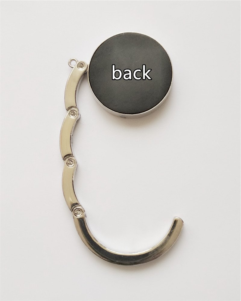 C1466 RhyNSky Animal Owl Round Folding Foldable Handbag Hook Purse Hanger Holder for Table /& Desk
