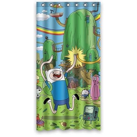 Finn And Jake Adventure Time Kids Cartoon Custom Shower Curtain DIY Bath 36 X 72