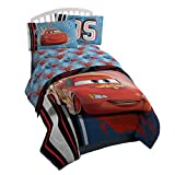 Disney/Pixar Cars 95 Twin 3 Piece Blue Sheet Set with Lightning McQueen (Official Disney/Pixar Product)