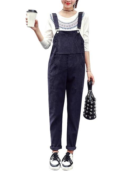 DianShao Monos Slim Overall, Peto Premamá Pantalones para Embarazadas para Mujer Armada L