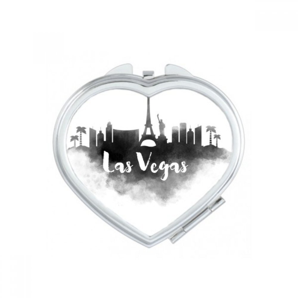 Las Vegas America Ink City Heart Compact Makeup Pocket Mirror Portable Cute Small Hand Mirrors Gift