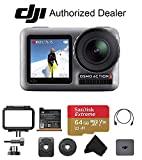 DJI OSMO Action - Dual Touch Display Waterproof Digital Action Camera with 4K HD Video 12MP Photos Live Streaming Stabilization (Starter)