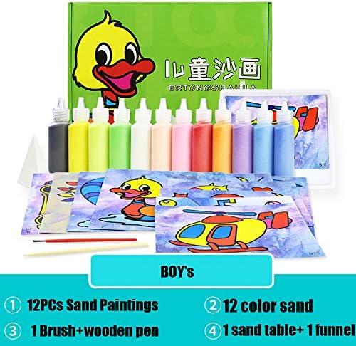 DOGZI Pintura de Arena con 12 Color Juguetes educativos para niños de Arena de Color Pintura de Arena Hecha a Mano: Amazon.es: Juguetes y juegos