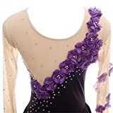 Purple Gradiant Ice Figure Skating Dress - for