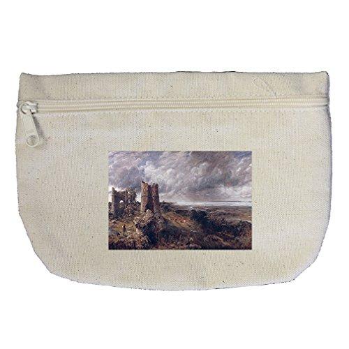 Hadleigh Castle (Constable) Canvas Makeup Bag Zippered Pouch (Castle Hadleigh)