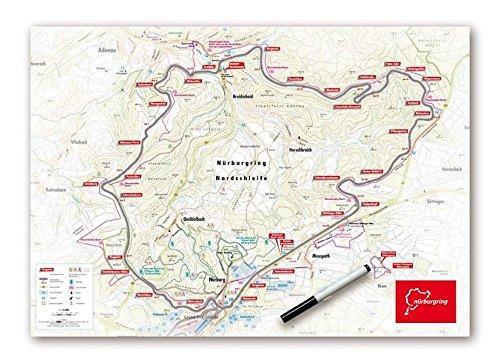 Whiteboard Nürburgring Nordschleife Landkarte – 19. Januar 2018 garant Verlag GmbH 3735915027 Rheinland-Pfalz Karte
