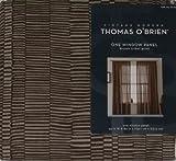 Thomas O'Brien Tribal Brown Print Window Panel Curtain 84″ For Sale