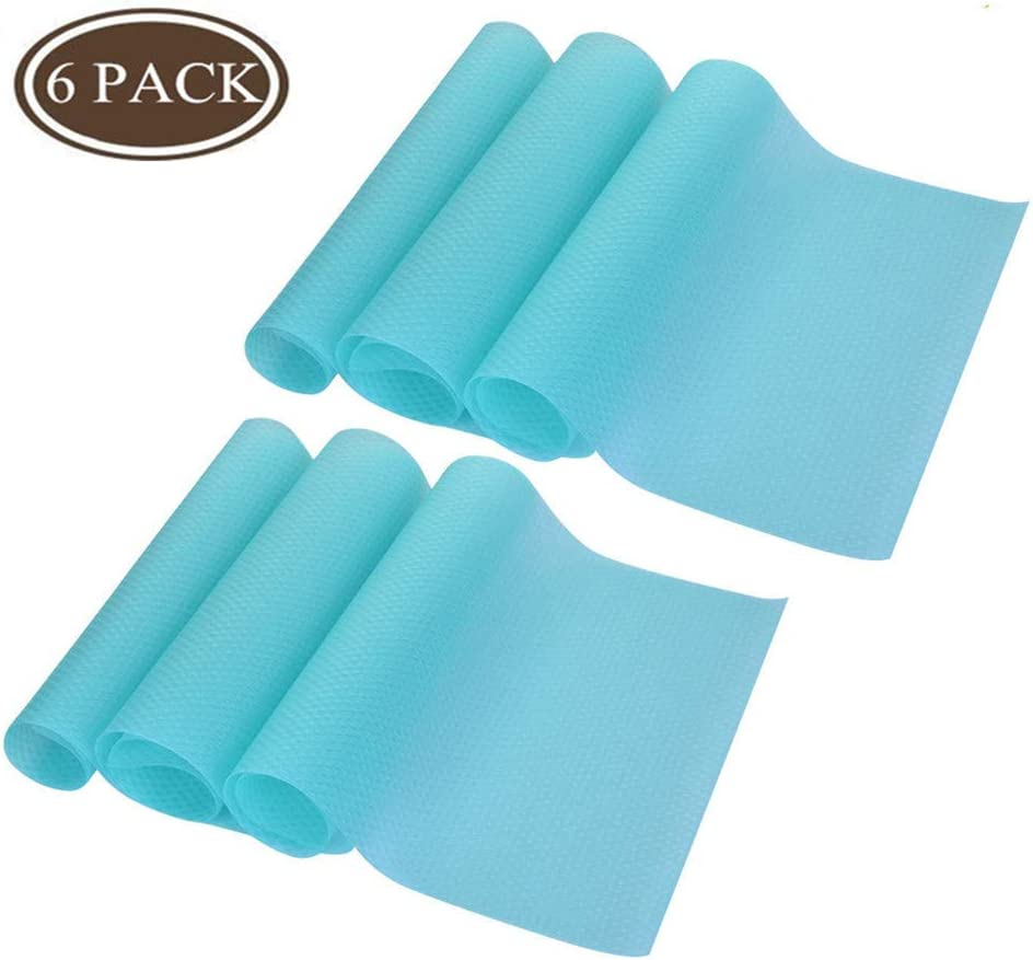 Refrigerator Pad 6 PCS Shelf Liners Can Be Cut Refrigerator Mats Pad Multifunctional Pads Cabinet Closet Drawer Table Placemats