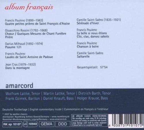 Album Francais: Vocal Music from France