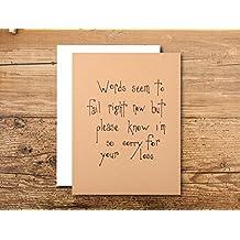 Miscarriage Card - Sympathy