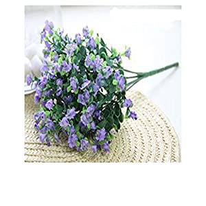 Distinct 1 Bouquet 7 Branches Light Purple Gypsophila Baby's Breath Artificial Silk Flowers For Wedding Party Home Decoration 9