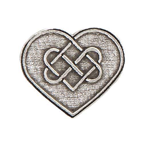 Heart with Celtic Knot Pewter Lapel Pin, Brooch, Jewelry, A106