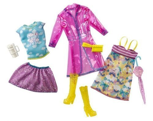 Barbie Fashionistas Day Looks Clothes - Rainy Day Outfits