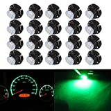 cciyu 20 Pack T5/T4.7 Neo Wedge 3 LED Green A/C Climate Control Light Bulbs New 8mm For 2001-2005 Honda Civic