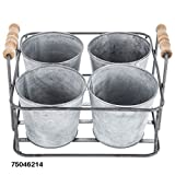 metal kitchen utencils - Rustic Metal Four Tin Organizer Utensil Caddy Container Kitchen Home Office Desk