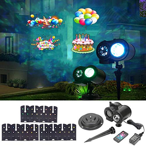 LLQ Christmas Projection Lights, Water Wave Projector Light, Remote Control LED...