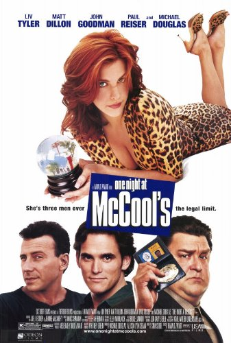 One Night at McCool's Movie Poster (11 x 17 Inches - 28cm x 44cm) (2001) Style A -(Liv Tyler)(Matt Dillon)(Paul Reiser)(John Goodman)(Michael Douglas)(Reba McEntire)
