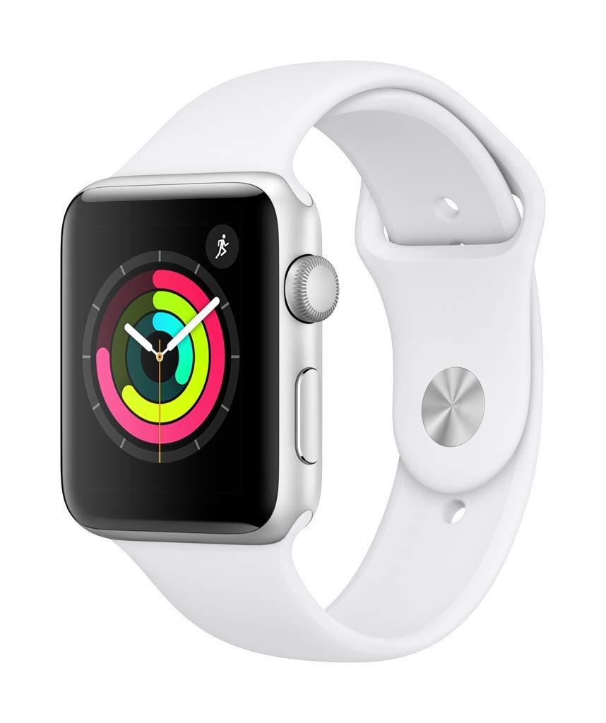 Apple Watch Series 3(GPSモデル)- 42mmシルバーアルミニウムケースとホワイトスポーツバンド