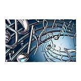 CafePress - 3D Musical Notes 3'X5' - Decorative Area Rug, Fabric Throw Rug