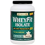 Fitness Labs WheyFit Isolate – 100% Whey Protein Isolate (2 Pounds, Natural Vanilla)