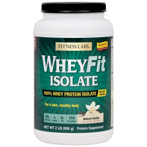 Fitness Labs WheyFit Isolate - 100% Whey Protein Isolate (2 Pounds, Natural Vanilla) Fitness Health Lab