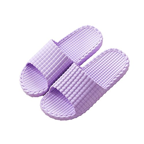 Summer slippers female indoor slippery bath bathroom with slippers male couple slippers summer home slippers male slippers female summer Purple yu9Yr91etK